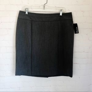 [George] NWT gray pencil career work wear skirt 12